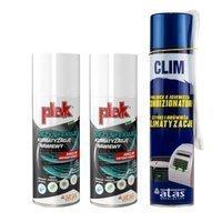 Atas Clim spray 400ml+ 2x Plak Airclim Antibatterico 200ml