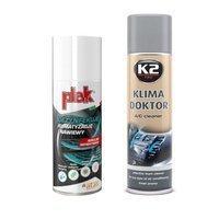 Zestaw: Plak Airclim Antibatterico 200ml+ K2 Klima Doktor 500ml