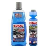 Zestaw: SONAX Xtreme zimowy koncentrat płynu 1L + letni koncentrat 250ml