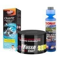Zestaw:Soft99 New Fusso Coat 12 Months Dark+Clean Air+Płyn do spryskiwaczy koncentrat