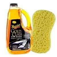 Zestaw: Szampon Meguiars Gold Class 1,8L+ Gąbka do mycia
