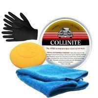 Zestaw: Wosk Collinite 476S 266g + mikrofibra, aplikator, rękawiczki