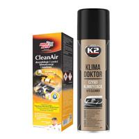 Zestaw do czyszczenia klimatyzacji: K2 Klima Doktor 500ml + Moje Auto CleanAir Świeży 150ml