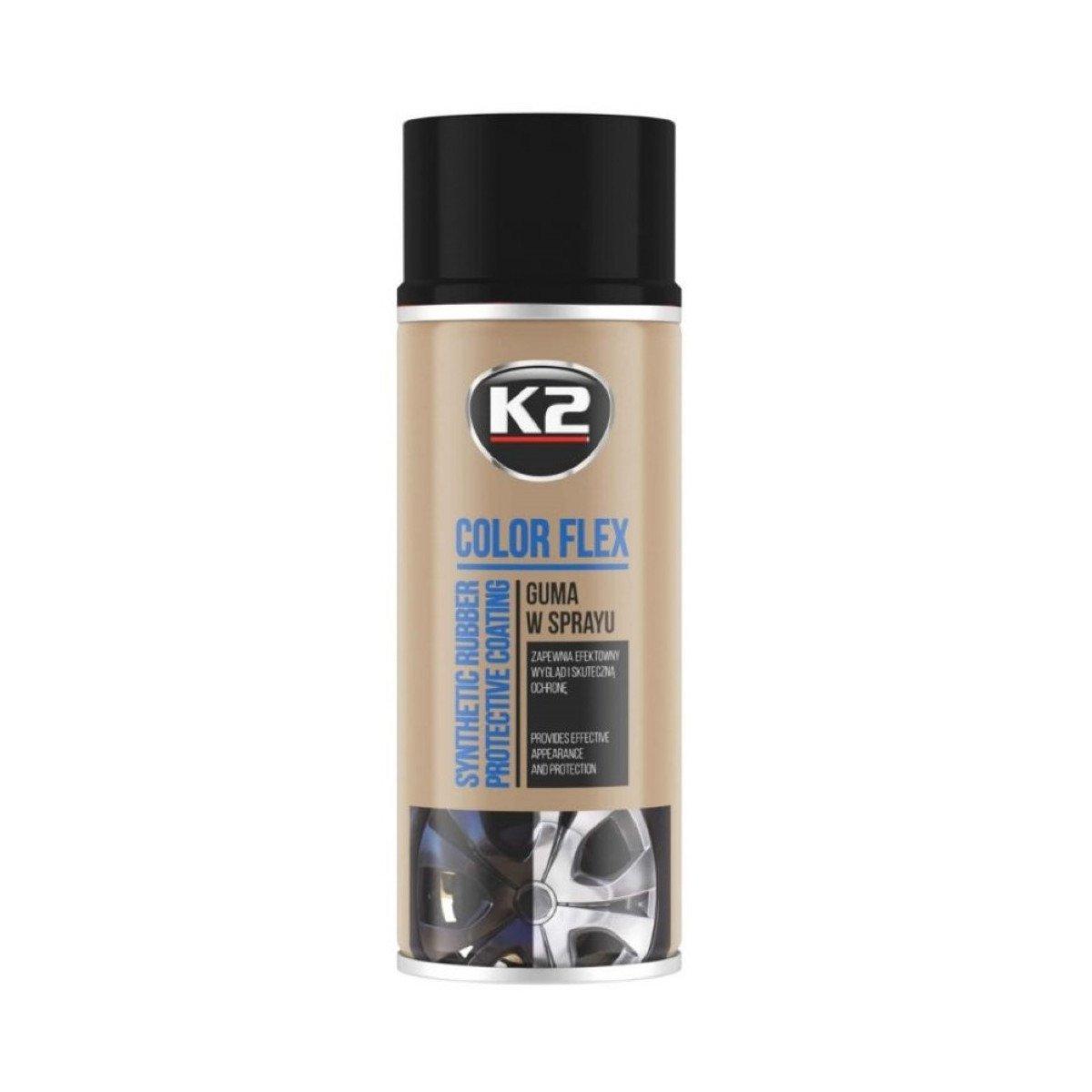 K2 Pro Color Flex Guma W Sprayu Kolor Czarny Mat 400ml Autokosmetyki Autochemia Pl