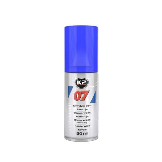 K2 07 smar odrdzewiacz w sprayu wielozadaniowy penetrant 50ml