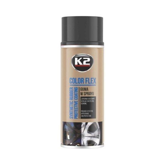 K2 Pro Color Flex guma w sprayu - kolor czarny połysk 400ml