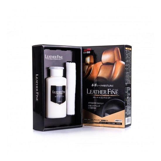Soft99 Leather Fine-Cleaner & Conditioner zestaw do pielęgnacji skóry 100ml