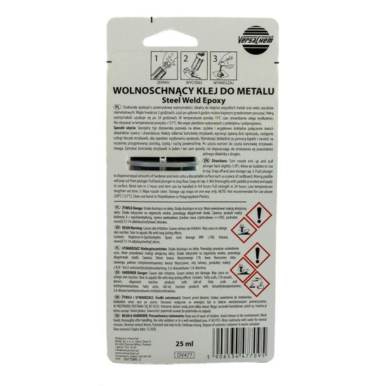 VersaChem Steel Weld Epoxy - płynny metal - klej do metalu 25ml