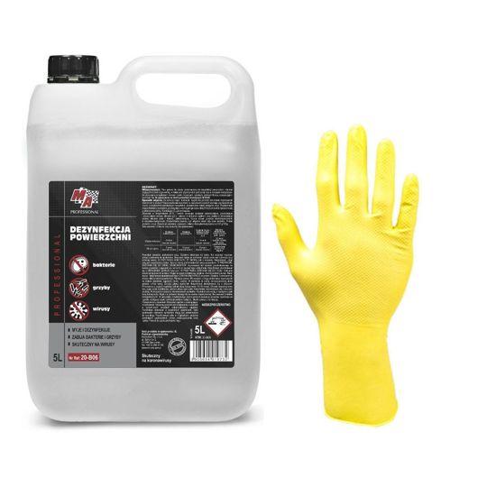 Zestaw:Płyn do dezynfekcj powierzchni DezoFast Moje Auto 5L+rękawice nitrylowe 10szt